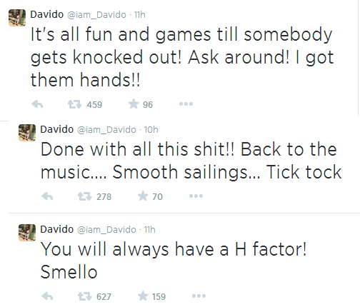 Na wao! ...Wizkid replies Davido again