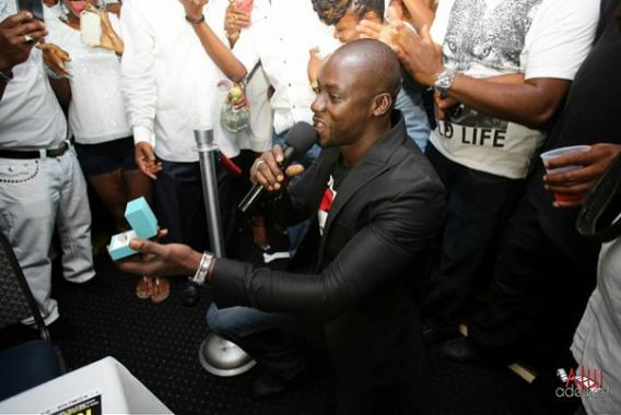 Chris Attoh proposes to Damilola Adegbite; romantic ba?