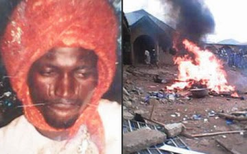 An Alfa's house set on fire for possessing a baby's placenta in his house