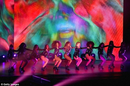 Beyonce's performance at the 2014 VMAs Show