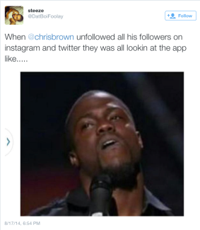 Chris Brown unfollows all of his fans on twitter & instagram (Fans fires back)