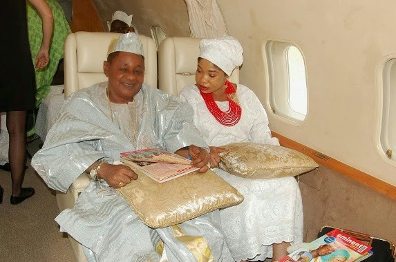 Alaafin of Oyo and his wive in private jet | ozara gossip