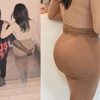 Kanye West grabs Kim Kardashian's butt