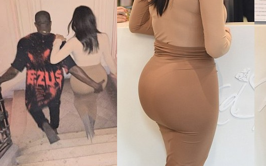 Kanye West grabs Kim Kardashian's butt | ozara gossip