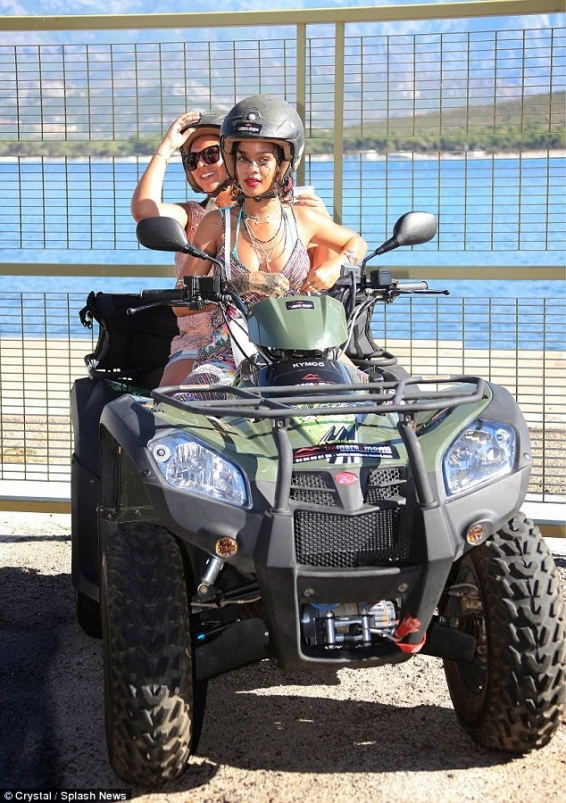 Rihanna riding bike