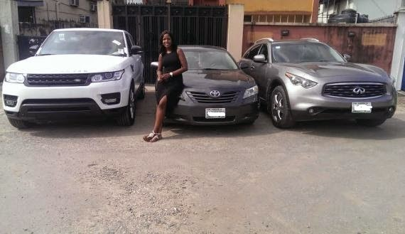 Linda Ikeji and her other cars, Toyoyo Camry, Infinity and her brand new 2014 Range Rover | ozara gossip