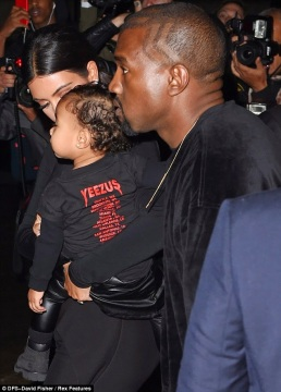 Kanye West and family at Balenciaga show in Paris | ozara gossip