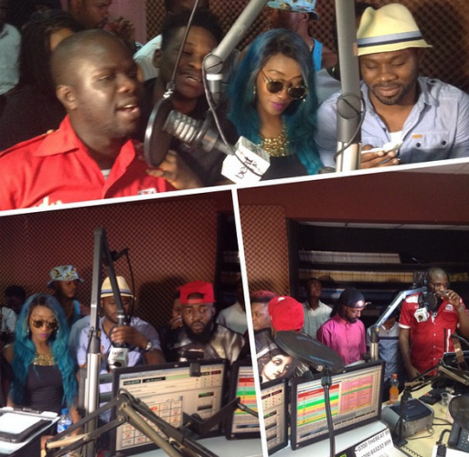 Nigerian celebrities at BeatFM