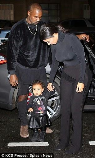 Who rocked: Kim Kardashian, Kanye West and North West at Balenciaga show in Paris - ozara gossip