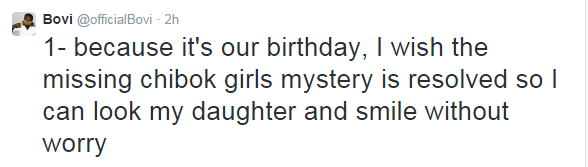 Tweets: Bovi and Daughter's birthday wishes | ozara gossip