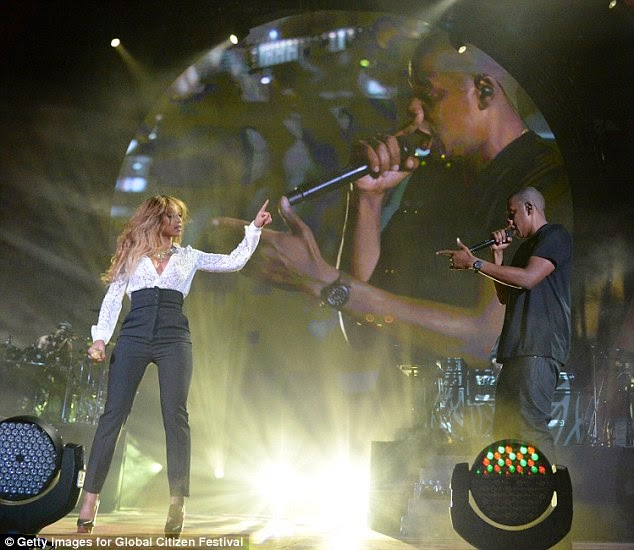 Beyonce and Jay Z, at Global Citizen Festival - ozara gossip