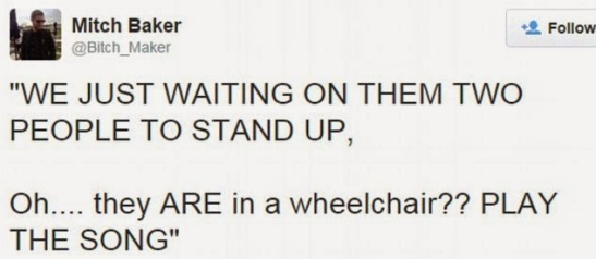 a fan tweets - they are on wheelchair - play the song | ozara gossip