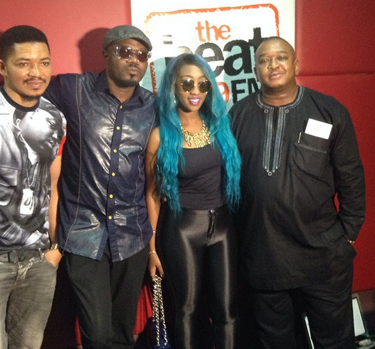 Nigerian celebrities, DJ jimmy Jatt at BeatFM | ozara gossip