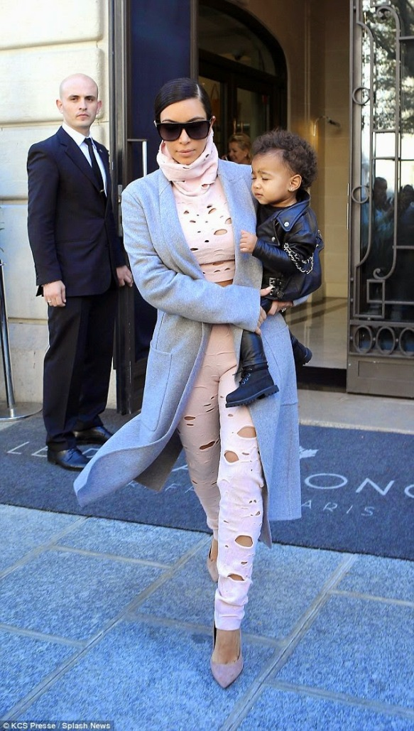 Kim Kardashian's new trend Alert with North West | ozara gossip