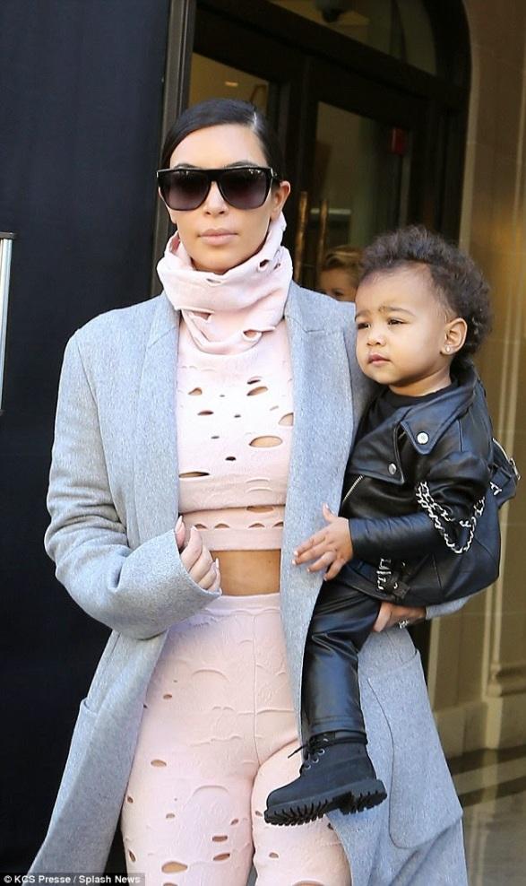 Kim Kardashian with North West |ozara gossip