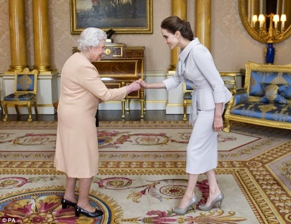 Queen of England Honours Angelina Jolie | ozara gossip