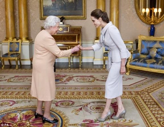 Queen of England Honours Angelina Jolie | ozara gossip