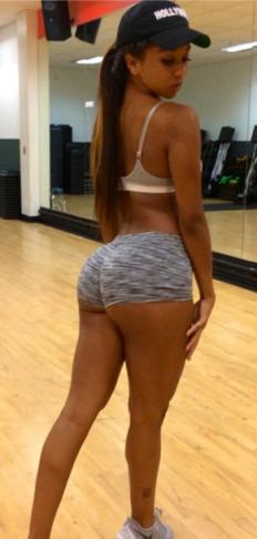 Brittany Renner shows off her sexy ass - ozara gossip