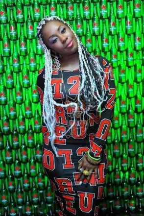 Victoria Kimani at Green Light party with Akon's official DJ, Benny D | ozara gossip