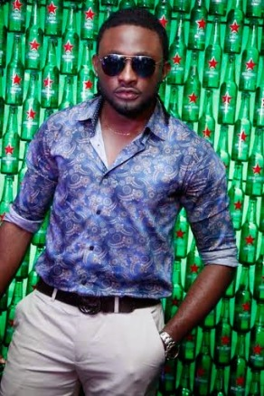 Uti Nwachukwu at the Green Light party with Akon's official DJ, Benny D | ozara gossip