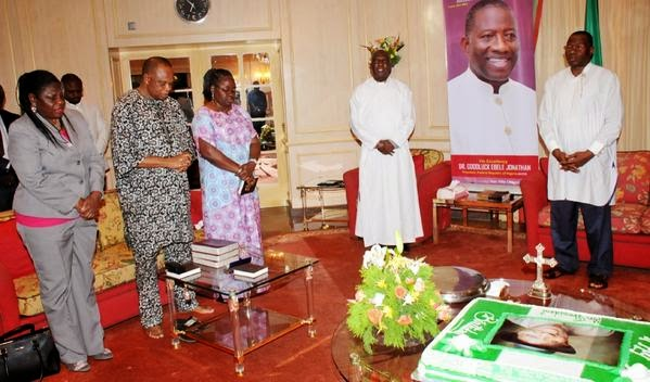 prayer section at President Goodluck Jonathan's 57th birthday party | ozara gossip