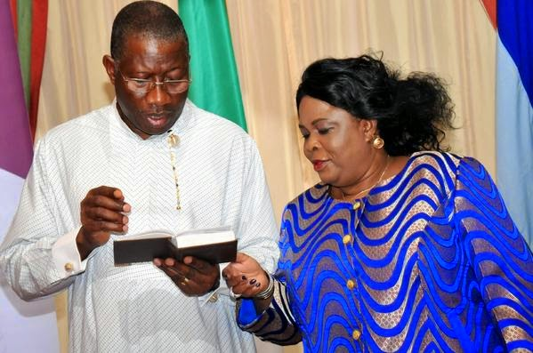 President Goodluck Jonathan and first lady at hi 57th birthday party | ozara gossip