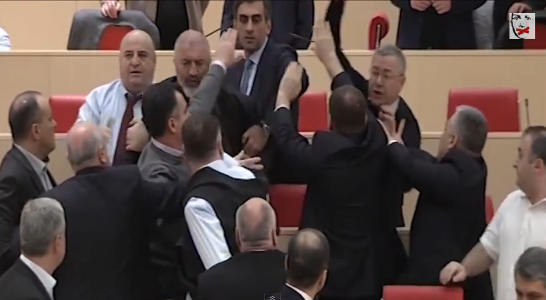 Georgian lawmakers box themselves on Boxing day | ozara gossip