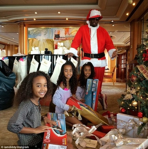 Diddy and daughters on xmas vacation | ozara gossip