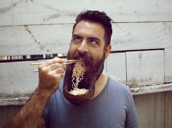 the man that eats noodles with his beard | ozara gossip