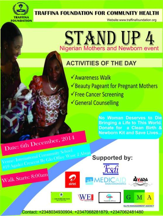 Stand Up For Nigerian Mothers and New Born Events | ozara gossip