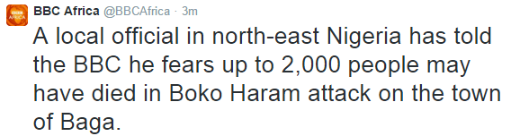 BBC Africa, 2000 people killed by Boko Haram in Baga | ozara gossip