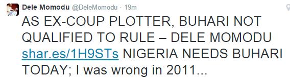 Dele Momodu's tweet about buhari - ozara gossip