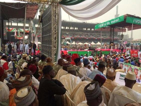 PHOTOS: PDP presidential rally in Lagos | ozara gossip