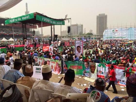 LAGOS: PDP presidential rally 2015 - ozara gossip