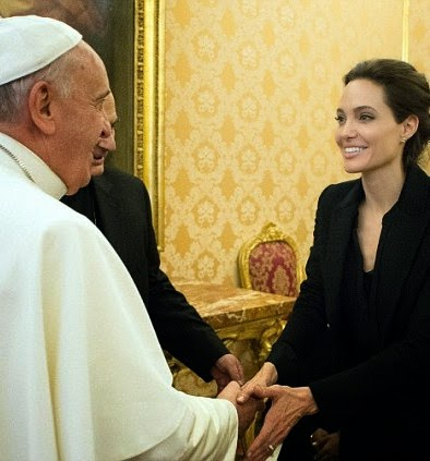 Angelina Jolie and Pope - ozara gossip
