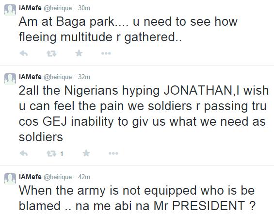 ozara gossip: Nigerian soldier blasts FG on twitter