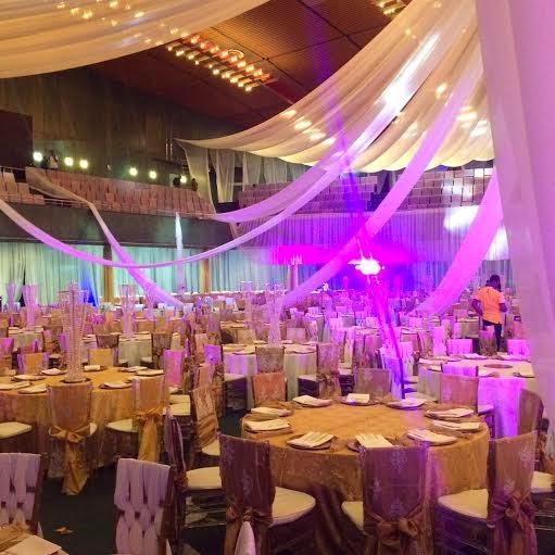 Jonathan's daughter's wedding decoration - ozara gossip