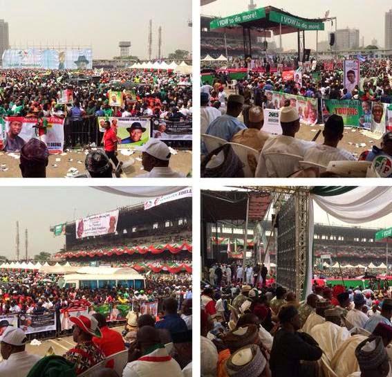 Massive: PDP presidential rally in Lagos - ozara gossip