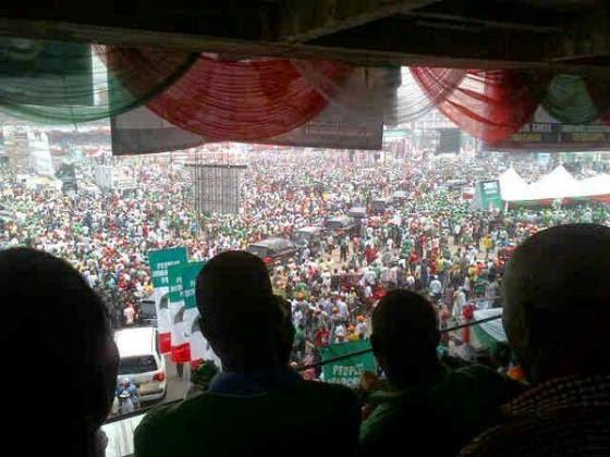 ozara gossip:  Lagos State PDP presidential rally 2015