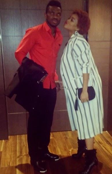 Joseph Yobo with his wife - Adaeze | ozara gossip