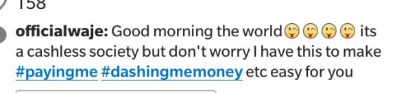 Waje's tweet on #payingme, #dashingmemoney | ozara gossip