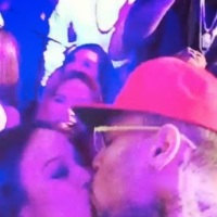 Chris Brown & Karrueche share a romantic new year kiss!!!