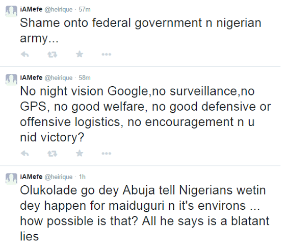 Nigerian soldier ranks on twitter over last of military weapons| ozara gossip